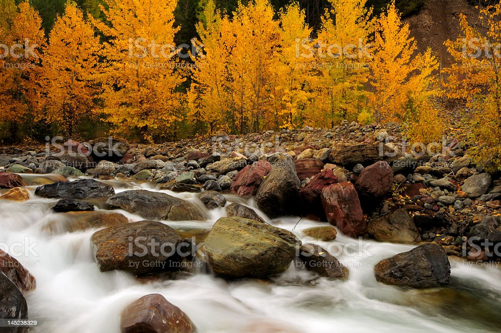 Glacier National Park in the fall royalty-free stock photo