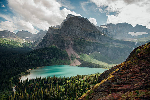 glacier national park, montana - us glacier national park stock pictures, royalty-free photos & images