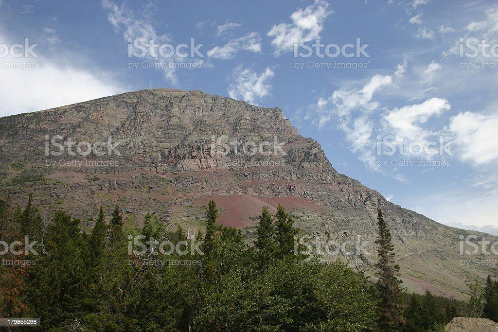 Glacier National Park - Mountain Profile royalty-free stock photo