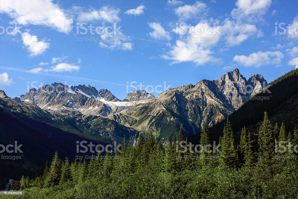 Glacier National Park of Canada stock photo
