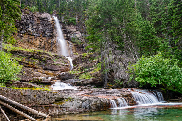 glacier national park - st. mary lake stock pictures, royalty-free photos & images