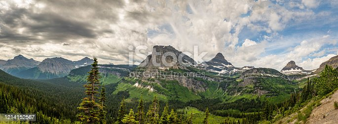 Glacier National Park in the Rocky Mountain Range of Montana.