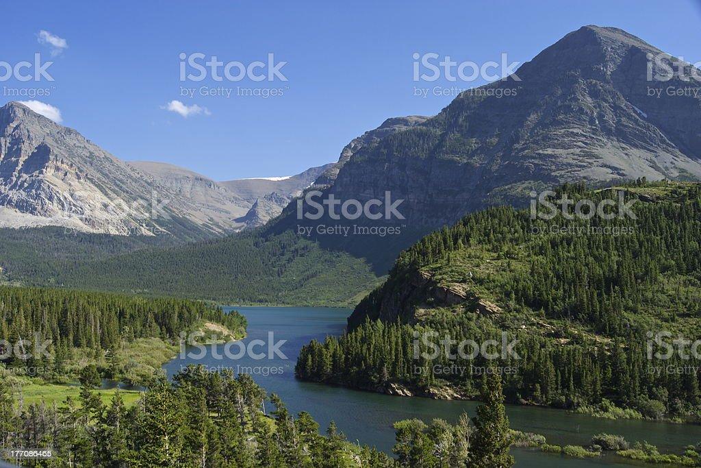 Glacier National Park Scene stock photo