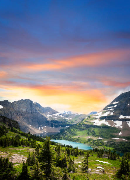 glacier national park view - us glacier national park stock pictures, royalty-free photos & images