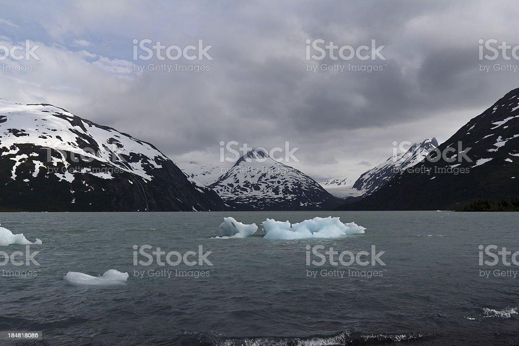 Glacier near Whittier Alaska stock photo