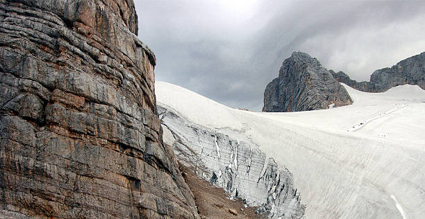 Glacier of Dachstein stock photo