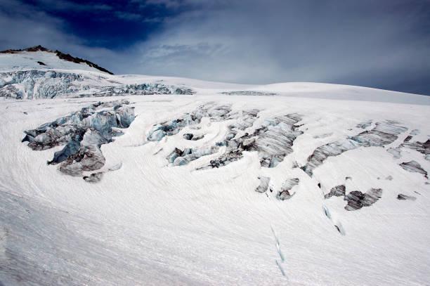 Glacier on Mount Baker stock photo