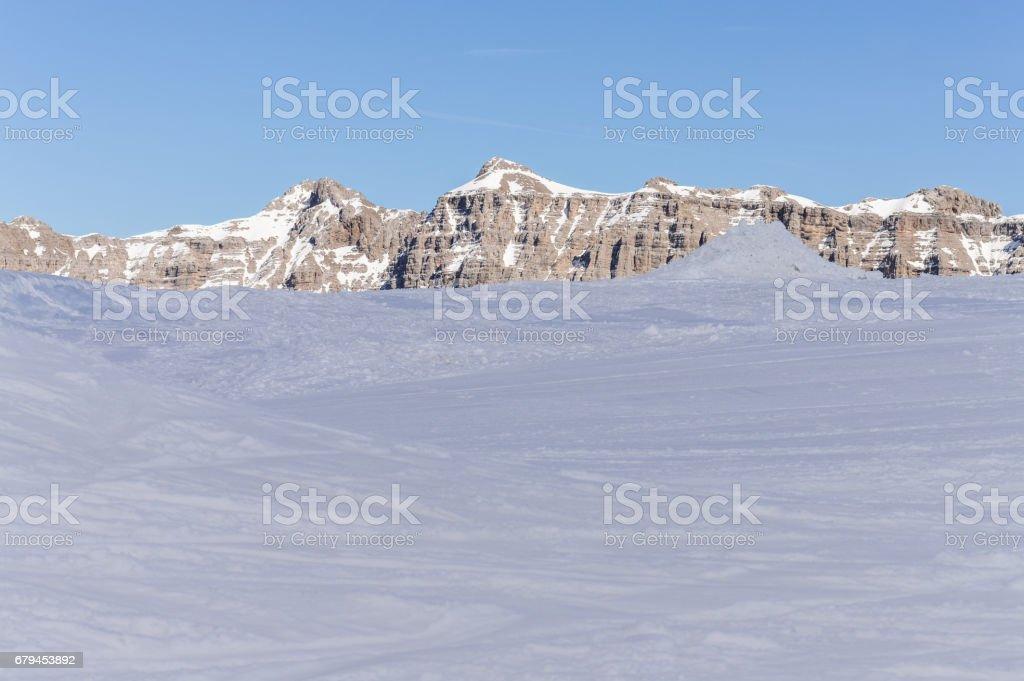 Glacier on the Dolomites Alps mountains royalty-free stock photo