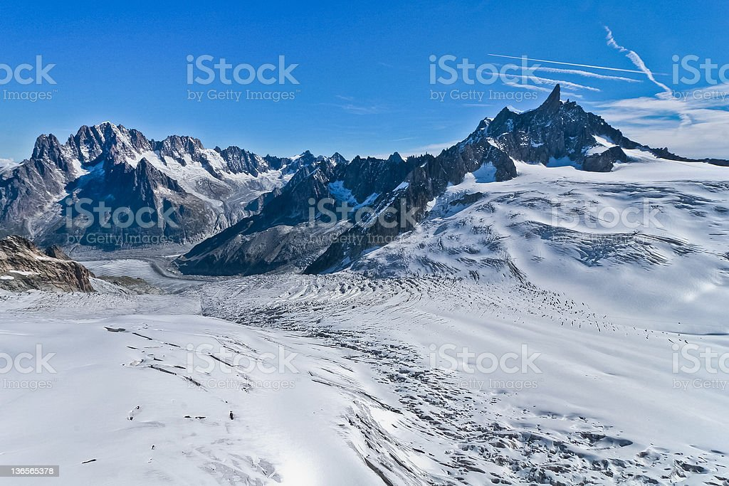 Glacier on the top of Jungfrau royalty-free stock photo