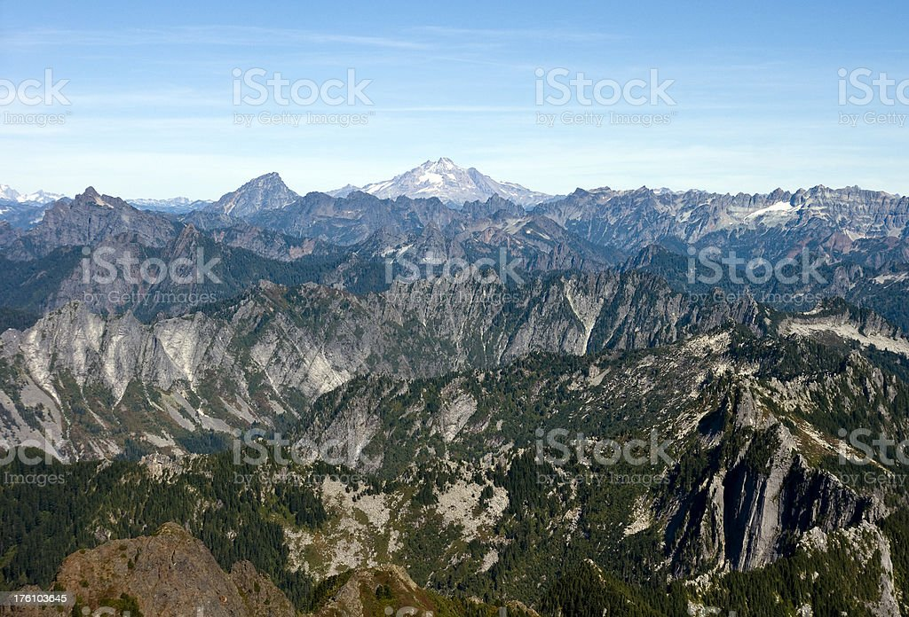 Glacier Peak in the Rugged Cascades royalty-free stock photo