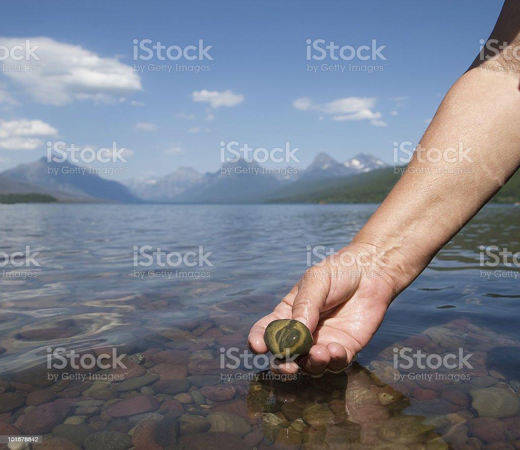 Glacier Pebble royalty-free stock photo