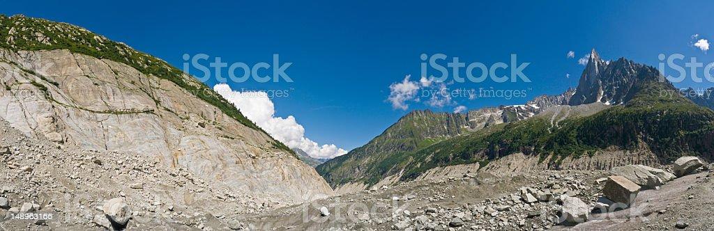 Glacier pinnacles and via ferrata royalty-free stock photo