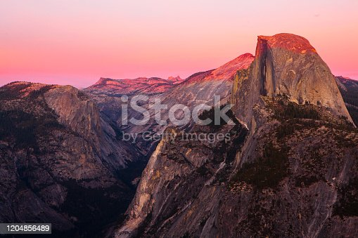 glacier point, yosemite national park, california, america during sunset