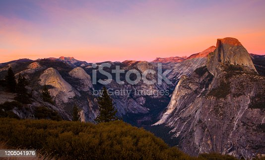 glacier point, yosemite national park, california, america in the afternoon