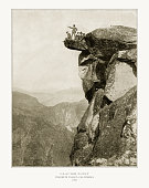 Glacier Point, Yosemite Valley, California, United States, Antique American Photograph, 1893
