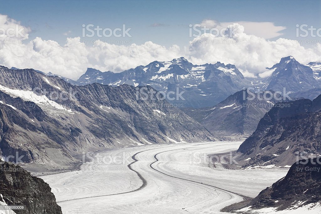 "Glacier ""Aletsch"" in Switzerland royalty-free stock photo"