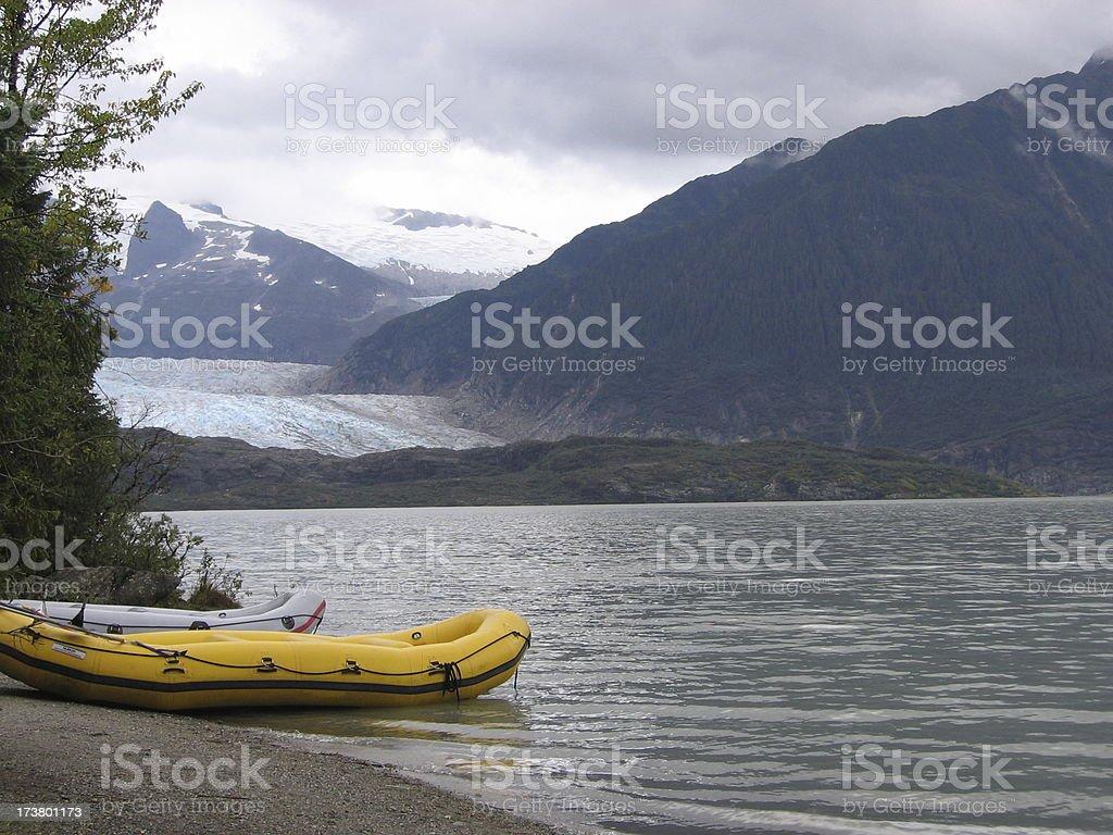 Glacier Rafts royalty-free stock photo