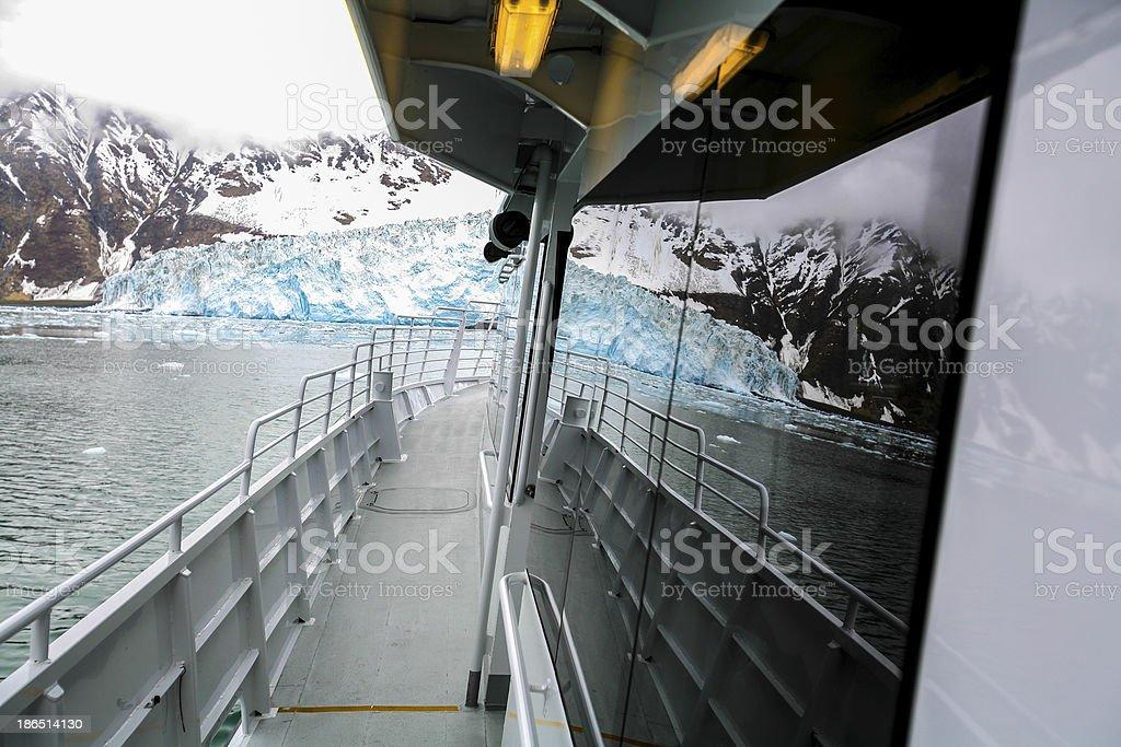 Glacier stretching into the ocean, alaska royalty-free stock photo
