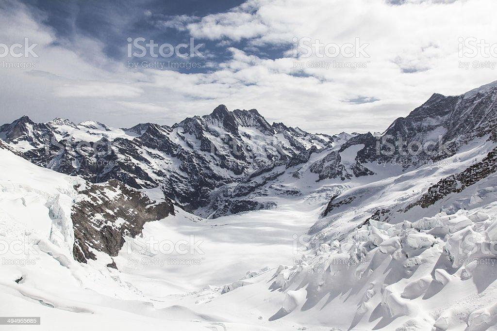 Glacier Switzerland stock photo