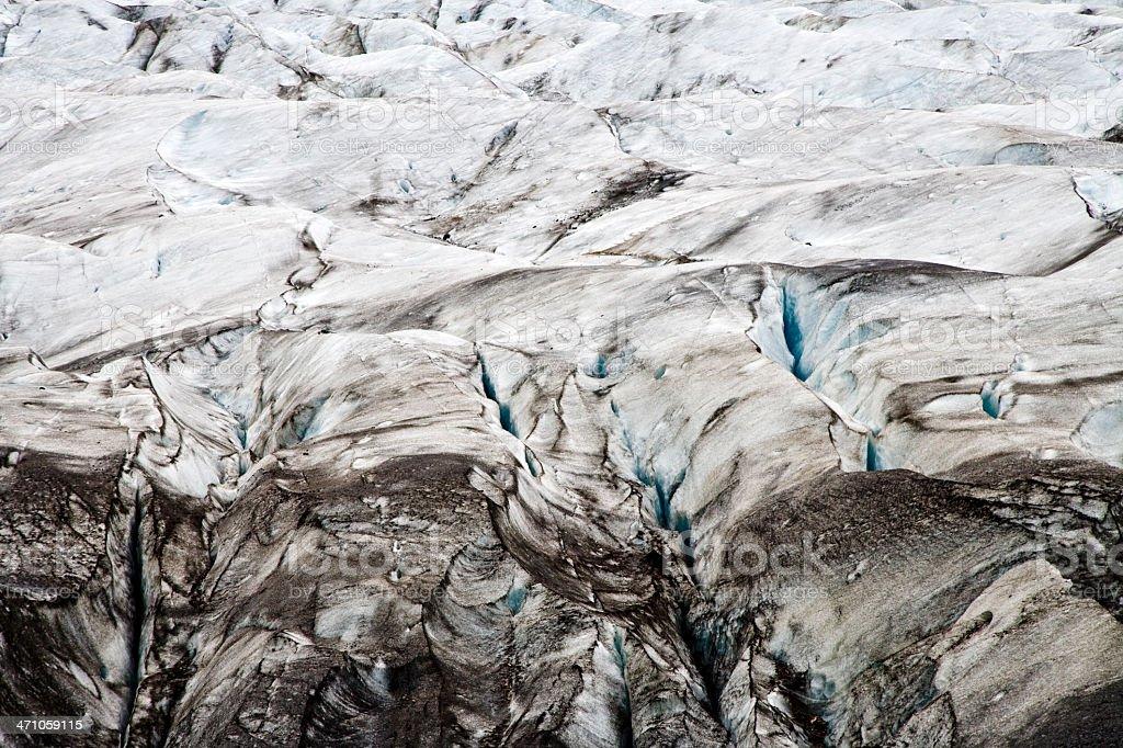 Glacier Texture Iceland Svinafellsjökull royalty-free stock photo