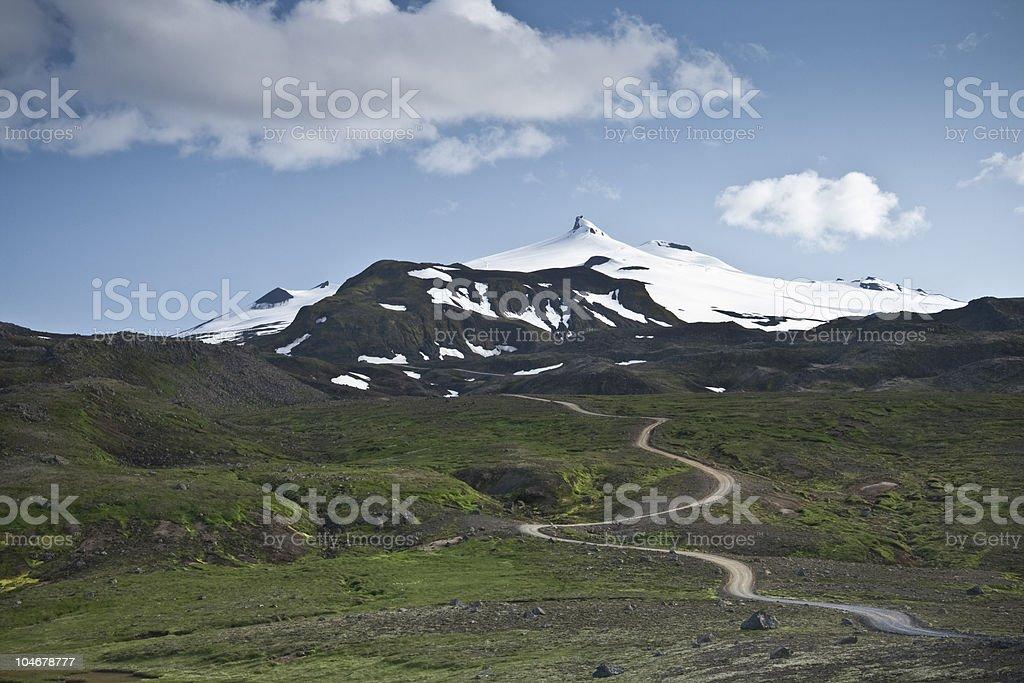 Glacier volcano Snæfellsjökull stock photo