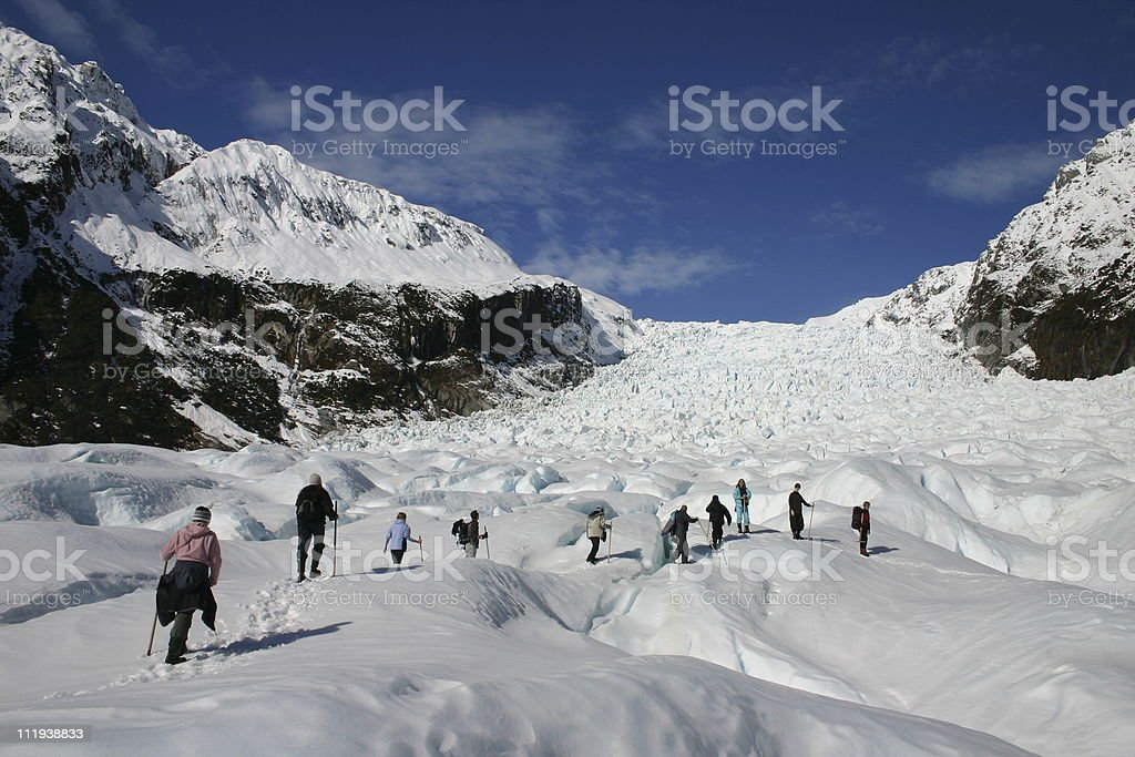 Glacier Walk stock photo