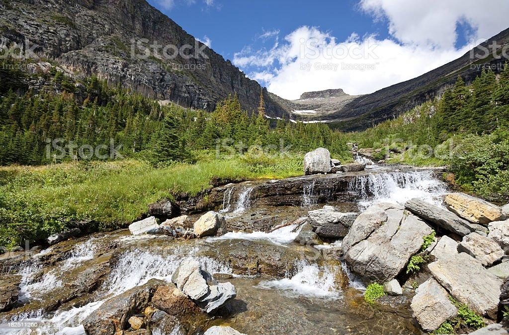 Glacier Waterfall royalty-free stock photo