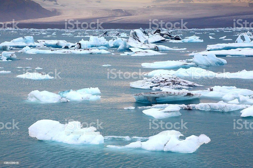 Glacierlagoon Jökulsárlón, Iceland stock photo