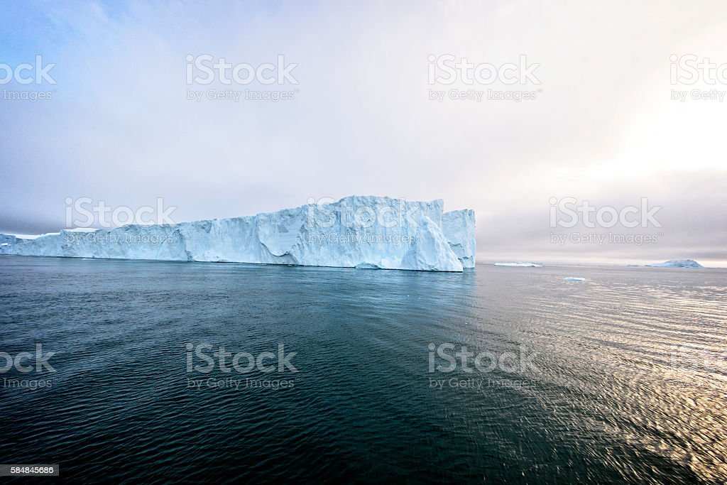 Glaciers are on the arctic ocean to Ilulissat icefjord, Greenland stock photo