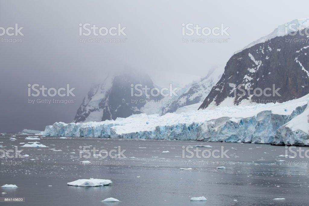 Glaciers, Neko Harbour, Antartic Peninsula, Antarctic royalty-free stock photo