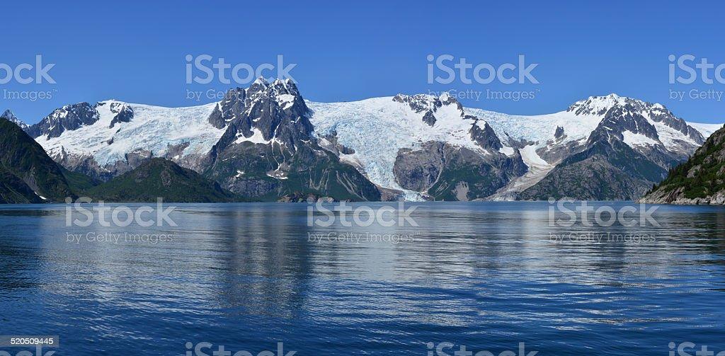 Glaciers of Alaska stock photo