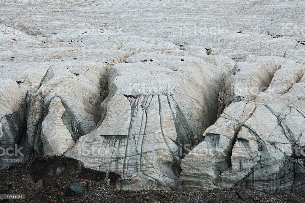 Glaciers on Holy snow mountain Anymachen on Tibetan Plateau, stock photo