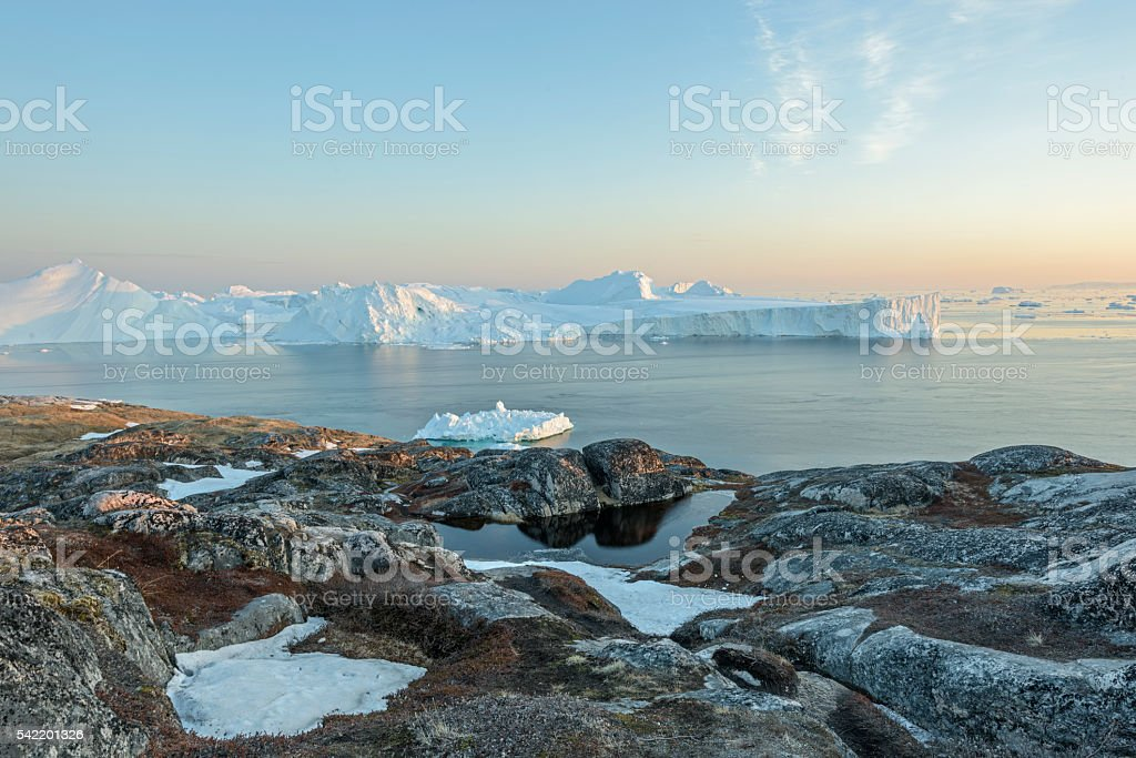 Glaciers stock photo