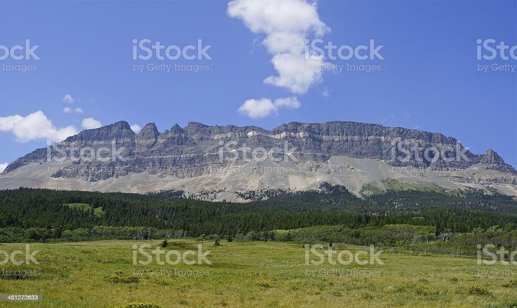 Glacier's Singleshot Mountain stock photo