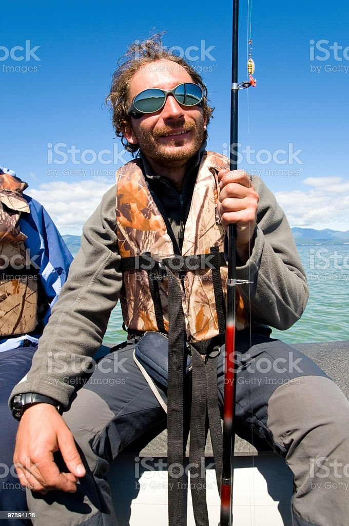 glad fisher royalty-free stock photo