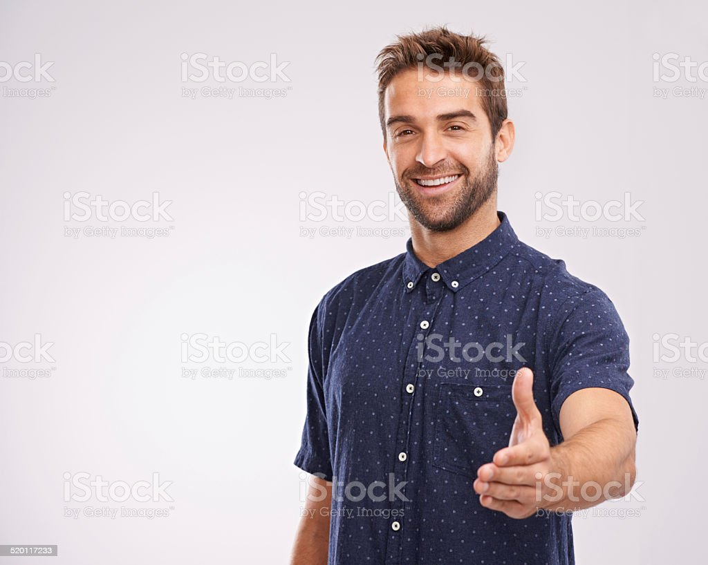 Glad to meet you stock photo