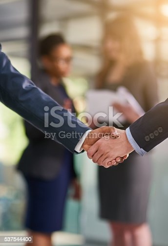 istock Glad we can work together 537544400