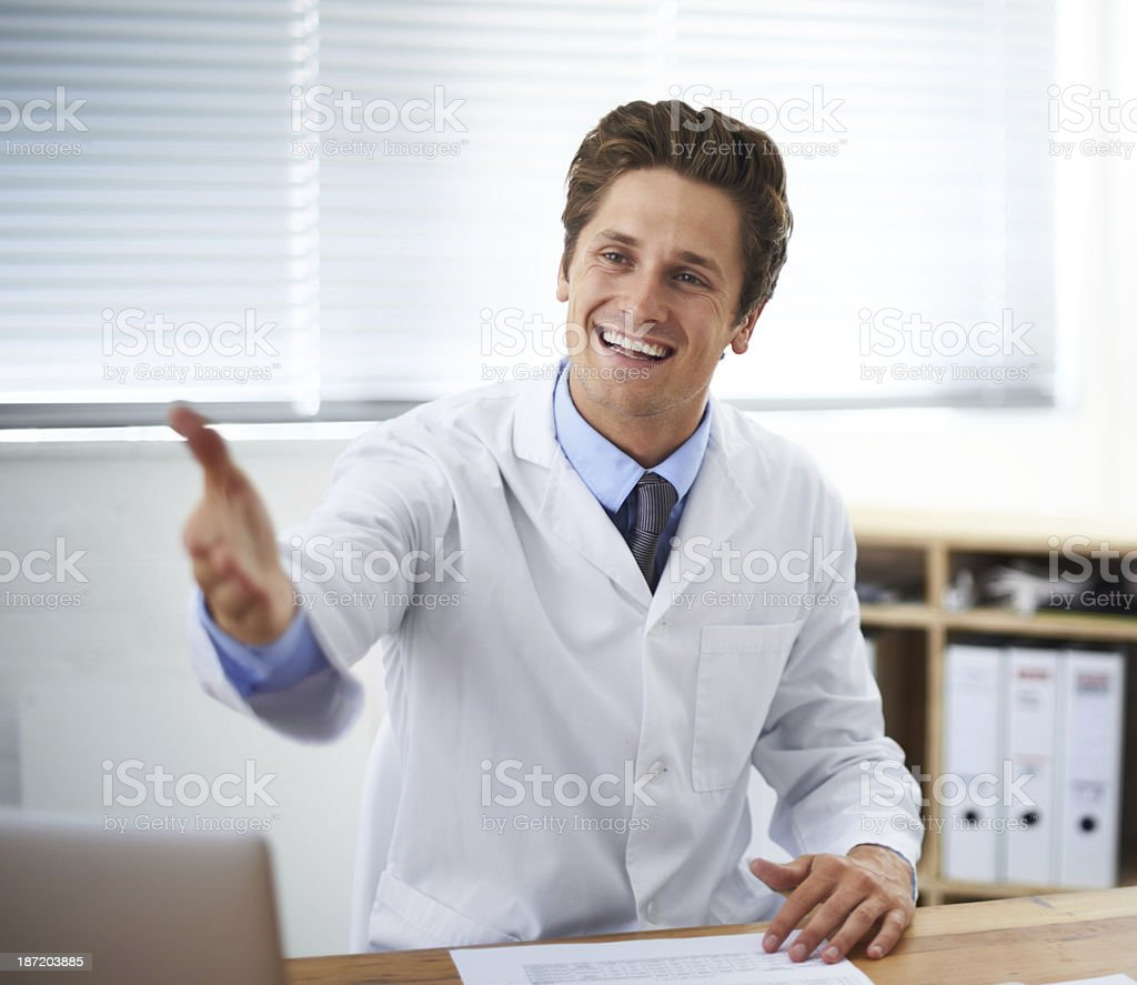 Glad you could make your appointment royalty-free stock photo