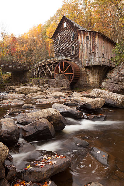 Glade Creek Grist Mill Glade Creek Grist Mill at Babcock State Park in West Virginia babcock state park stock pictures, royalty-free photos & images