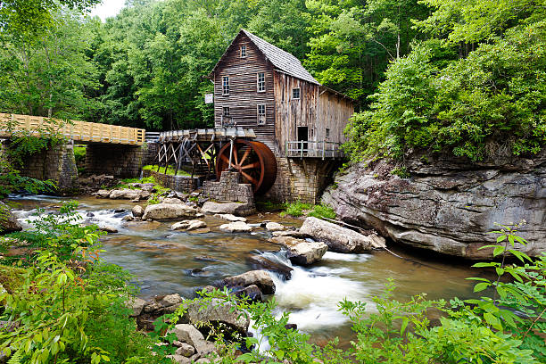 Glade Creek Grist Mill The Glade Creek Grist Mill In Babcock State Park In West Virginia. babcock state park stock pictures, royalty-free photos & images