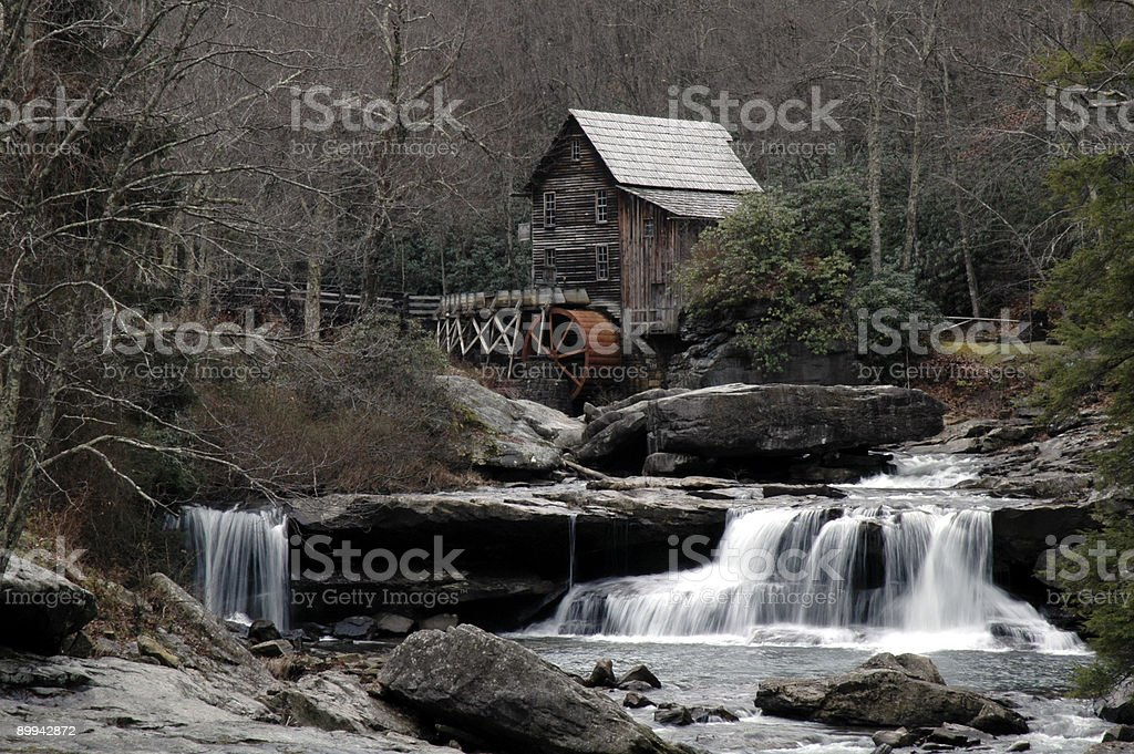 Glade Creek Grist Mill royalty-free stock photo