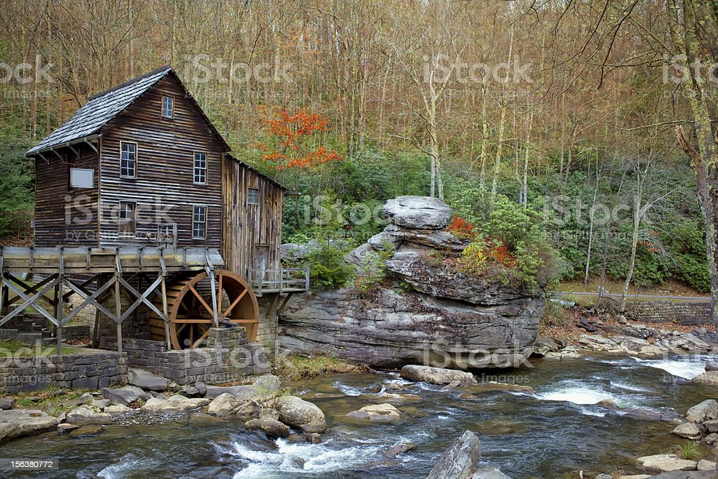 Glade Creek, Old Grist Mill, Babcock State Park, West Virginia stock photo