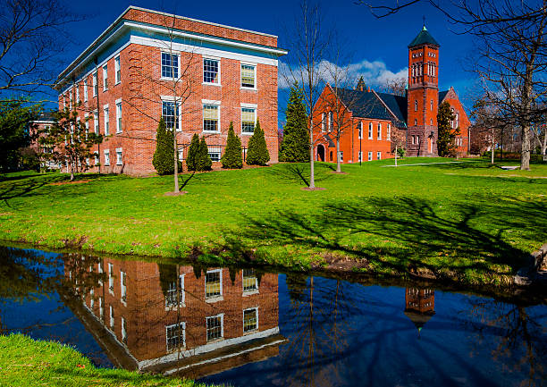 Gladfelter Hall, on the campus of Gettysburg College, PA. stock photo
