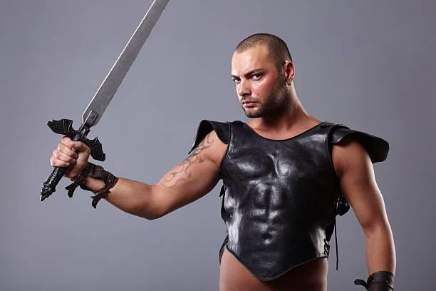 gladiator - wächter tattoo stock-fotos und bilder
