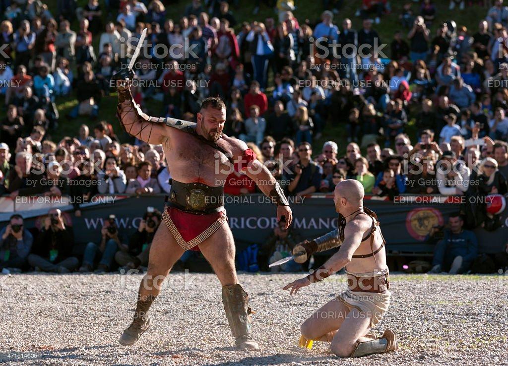 Gladiators stock photo