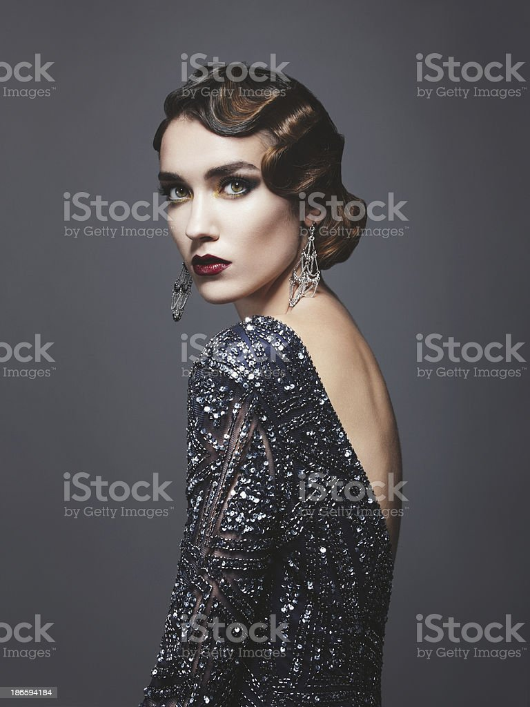 Glam retro diva royalty-free stock photo