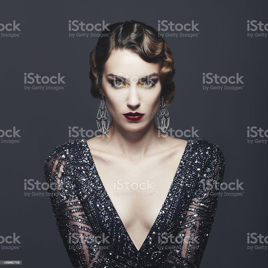 Glamour rétro diva - Photo de 1920-1929 libre de droits