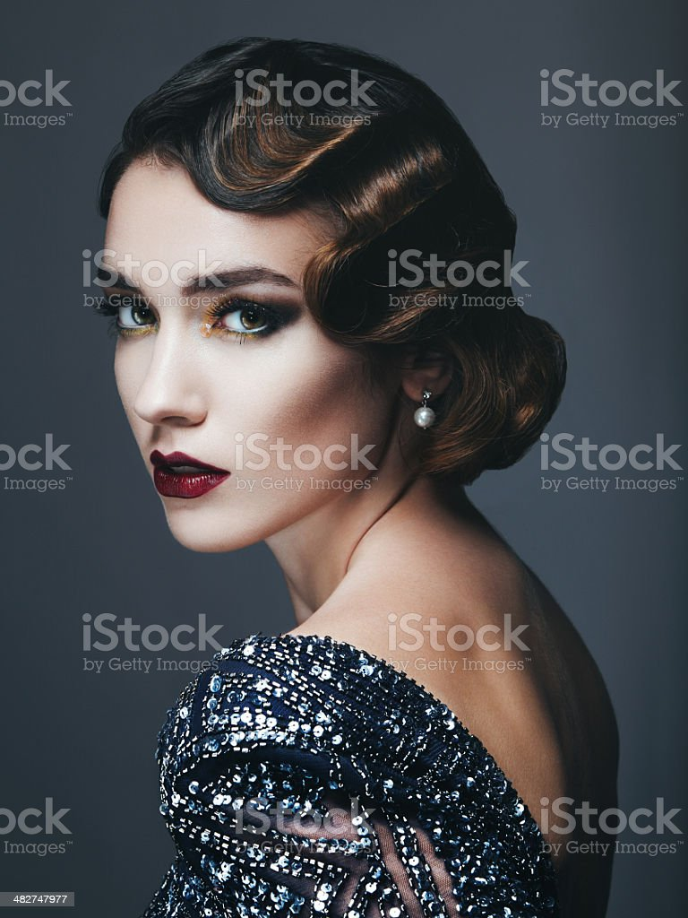 Glam retro diva royalty-free stock photo
