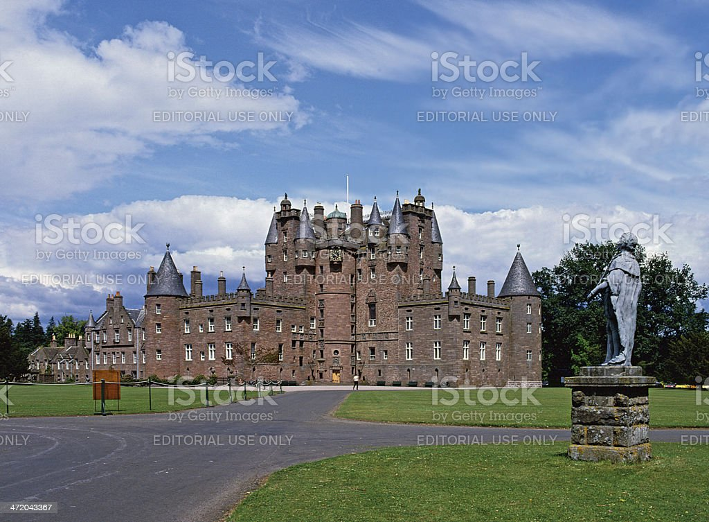 Glamis Castle Angus Scotland stock photo