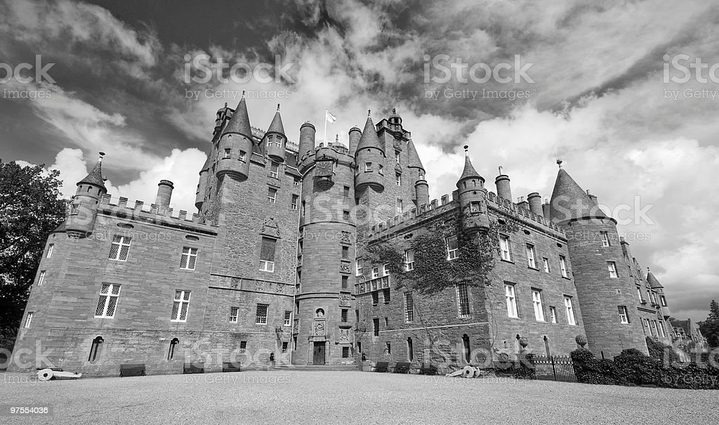 Glamis Castle in Scotland royalty-free stock photo